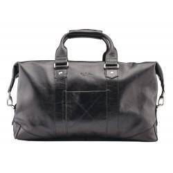 Дорожная сумка из натуральной кожи Ray Button Monte Carlo Black