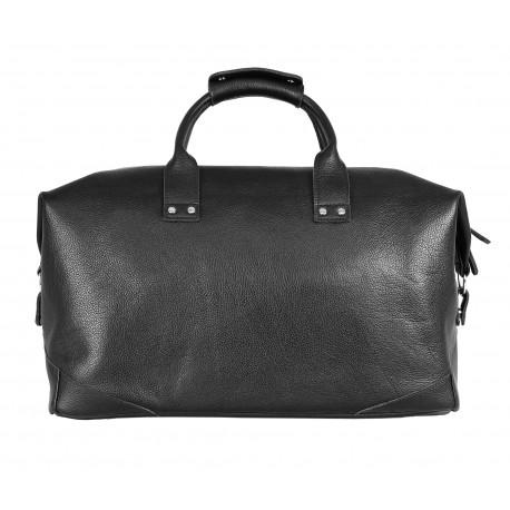 Дорожная сумка из натуральной кожи Ray Button Rotterdam Black Grain