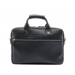 Мужская сумка из натуральной кожи Ray Button Hamburg Black черная