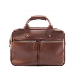Мужская сумка из натуральной кожи Ray Button Hannover Brown Сhameleon