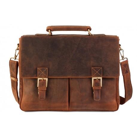 Деловая сумка Visconti Hunter 18716 Berlin oil tan