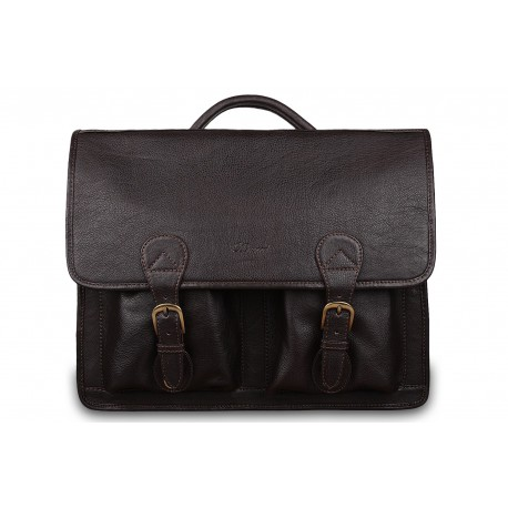 Портфель Ashwood Leather 8190 Dark Brown
