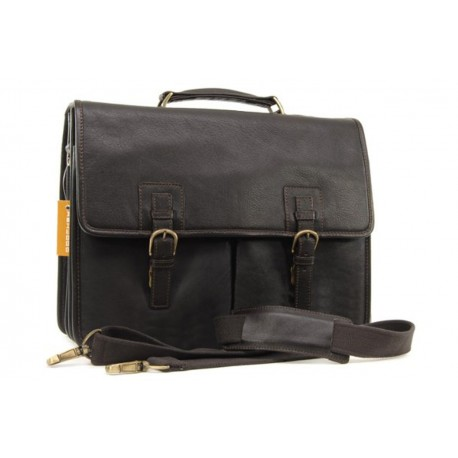 Портфель Ashwood leather Gareth Dark Brown