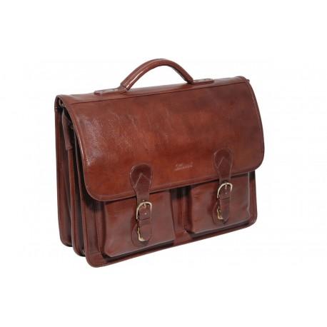 Портфель Ashwood Leather 8190 Chestnut Brown