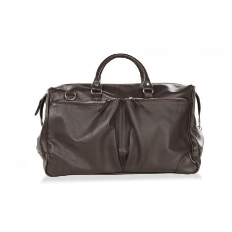 Дорожная мужская сумка из натуральной кожи Hadley Dorn Brown коричневая