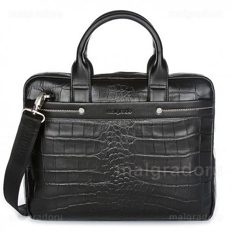 Портфель из натуральной кожи Malgrado BR09-32101C1538 черный