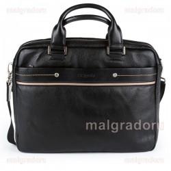 Портфель из натуральной кожи Malgrado BR09-322C1836 черный