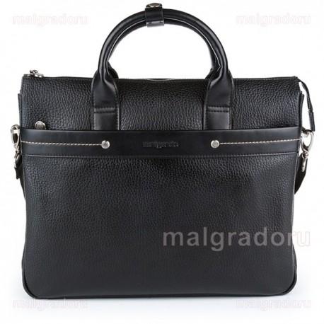 Портфель из натуральной кожи Malgrado BR09-395C1538BL черный