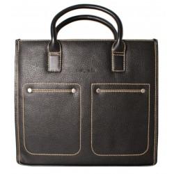 Портфель из натуральной кожи Malgrado BR09-399C1538 черный