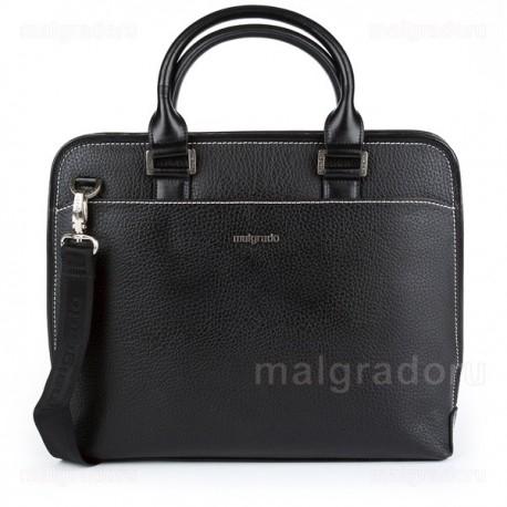 Портфель из натуральной кожи Malgrado BR09-697C2419 черный