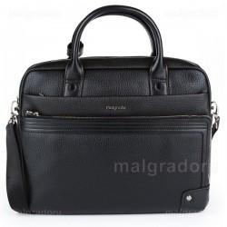 Портфель из натуральной кожи Malgrado BR10-495C 1538 черный