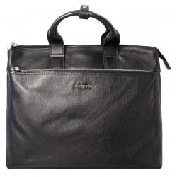 Портфель из натуральной кожи Malgrado BR11-777C2455 черный