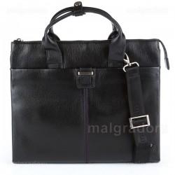 Портфель из натуральной кожи Malgrado BR38-88C2458 черный