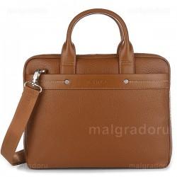 Портфель из натуральной кожи Malgrado BR09-72102C1538 коричневый