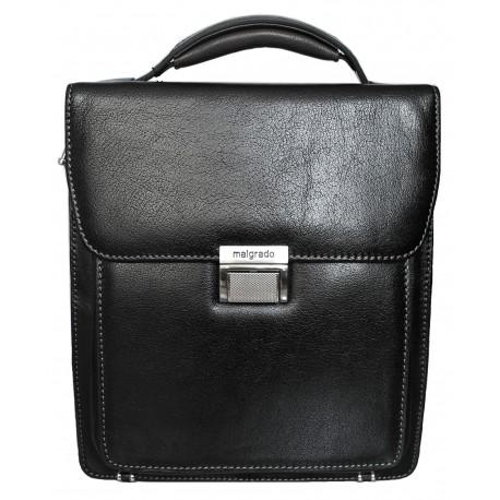 Портфель из натуральной кожи Malgrado BR10-777C2309 черный