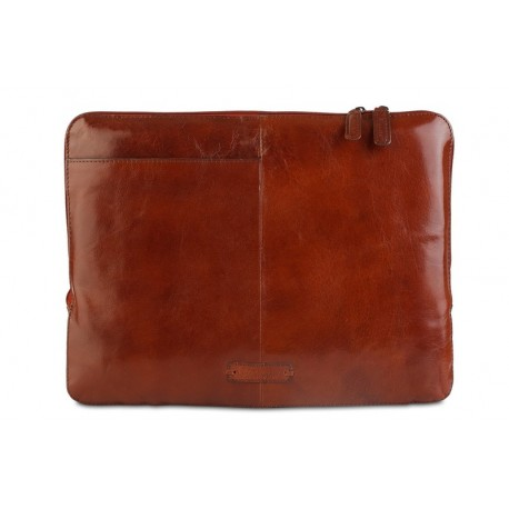 Папка для ноутбука Ashwood Leather Ron Chestnut Brown