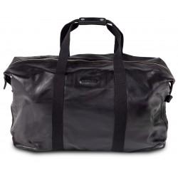 Дорожная сумка из натуральной кожи Hadley Carl Black черная