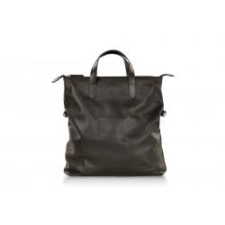 Мужская сумка из натуральной кожи Hadley Harrow черная
