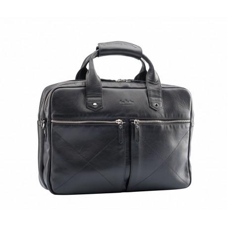 Мужская сумка из натуральной кожи Ray Button Hannover черная