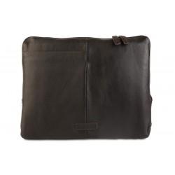 Папка для ноутбука Ashwood Leather Ron Dark Brown