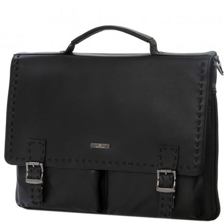 Кожаная мужская сумка Bagstone 88601-51 черная