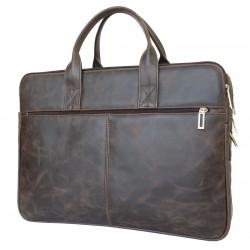 Кожаная сумка для ноутбука Carlo Gattini Camerano коричневая