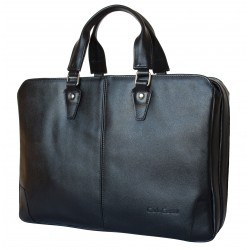 Кожаная сумка для ноутбука Carlo Gattini Belmonte 1002-01 черная