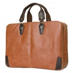 Кожаная сумка для ноутбука Carlo Gattini Selvatico Belmonte cognac/brown