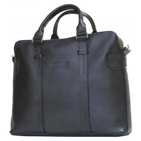 Кожаная сумка для ноутбука Carlo Gattini Tirso 1003-01 черная