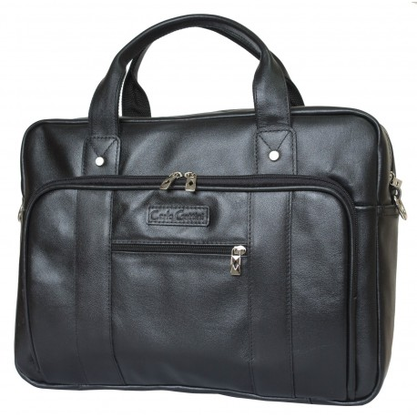 Кожаная сумка для ноутбука Carlo Gattini Rivoli 1004-01 черная
