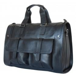 Кожаная дорожная сумка Carlo Gattini Alcantara 4001-01 черная