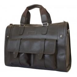 Кожаная дорожная сумка Carlo Gattini Alcantara 4001-04 коричневая