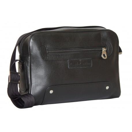 Кожаная мужская сумка Carlo Gattini Caldaro 5002-01 черная