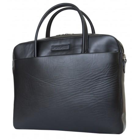 Кожаная мужская сумка Carlo Gattini Como 5005-01 черный