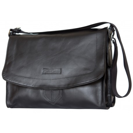 Кожаная сумка через плечо Carlo Gattini Albano 5006-01 черная
