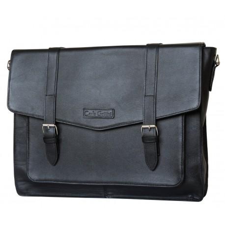 Кожаная мужская сумка Carlo Gattini Salento 5010-01 черная