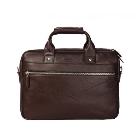 Деловая сумка Ray Button Hamburg Dark Brown коричневая
