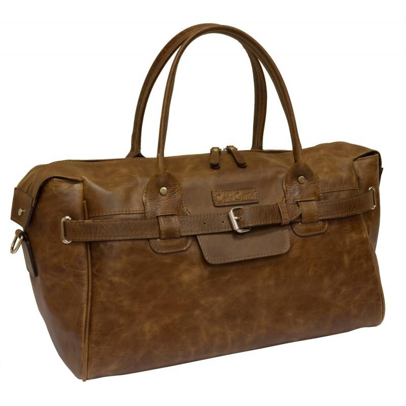 1c68ac2b Дорожная кожаная сумка Carlo Gattini Selvatico 4003-04 Коньяк