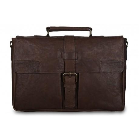 Портфель Ashwood leather Doris Dark Taupe