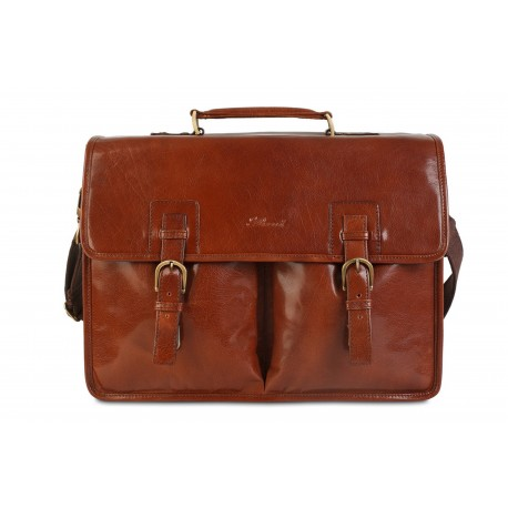 Портфель Ashwood leather Gareth Chestnut Brown