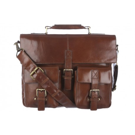Портфель Ashwood leather James Chestnut Brown