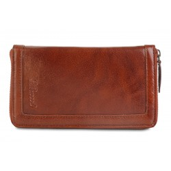 Дорожный кошелёк Ashwood leather TW Chestnut Brown