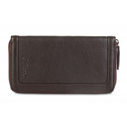 Дорожный кошелёк Ashwood leather TW Dark Brown