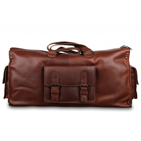 Дорожная сумка Ashwood leather Straton Brown Burn