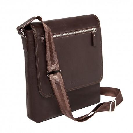 Мужская сумка Gianfranco Bonaventura Fabio Marrone коричневая