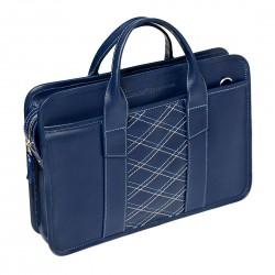 Мужская сумка Gianfranco Bonaventura Cattaneo Blu Rombico синяя